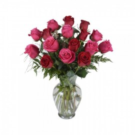 The assorted 16 roses bouquet