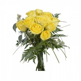 Yellow roses by the dozen