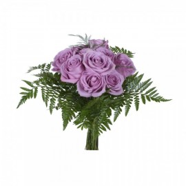 Purple roses by the dozen