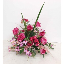 A Touch of Pink  (Silk Flowers)